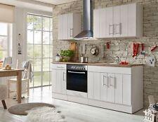 Küche Küchenzeile Küchenblock Landhausküche Einbauküche 210 cm weiß respekta