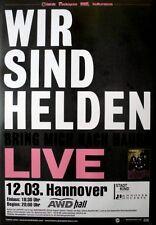 WIR SIND HELDEN - 2010 - Konzertplakat - Bring mich... - Tourposter - Hannover