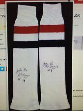 JOHN PIE McKENZIE Signed Pair Of NHL HOCKEY SOCKS 2 AUTOS Autograph COA
