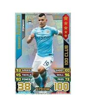 Match Attax Extra 2015 2016 Topps Hundred 100Club Card 15 16 SERGIO AGUERO