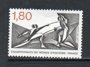 FRANCE MNH 1981 SG2422 WORLD FENCING CHAMPIONSHIPS