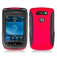 Red With Black Hybrid Hard Case Cover for Blackberry Torch 9800 9810