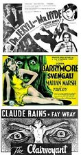 DR JEKYLL & MR HYDE(March)1932,SVENGALI(Barrymore)1931,CLAIRVOYANT(Rains) 1934