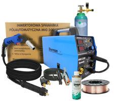 SHERMAN MIG SPEEDY 200A MIG/MAG welder, wire, spray, regulator, gas bottle