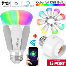 7W E27 Wifi Smart LED Light Bulb + Wifi Bulb Socket for Alexa Google App Control