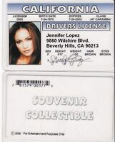 Taco Flavored Kisses Jennifer Lopez California CA Drivers License fake id card