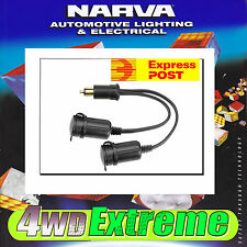 NARVA HEAVY DUTY MERIT PLUG TO TWIN CIG ACCESSORY SOCKET ADAPTER LEAD 81041BL