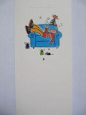 Fantastica COLORATA presenta & RILASSANTE sul divano di papà Compleanno greeting card