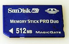 Sandisk 512mb Memory Stick Pro Duo Card Magic Gate