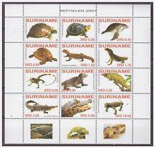 Surinam / Suriname 2007 Turtle lizard crocodile MNH tab