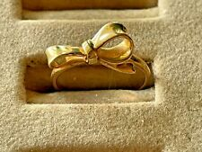 Sweet 14K Yellow GOLD Bow RING, Size 5