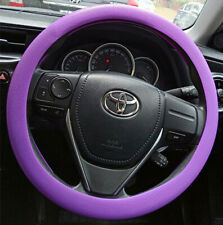 Purple Silicone Resistance Car Steering Wheel Cover Fits diameter 34cm-38cm