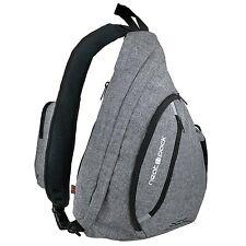 Versatile Canvas Sling Bag / Urban Travel Backpack, Grey   Wear Over Shoulder or