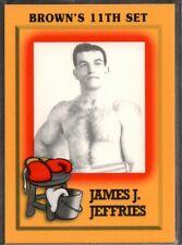 1997 Brown's Boxing #NNO James J. Jeffries PROMO