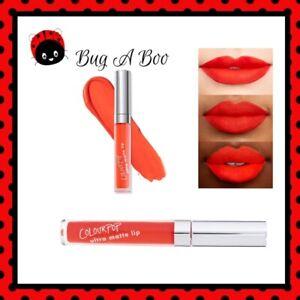 COLOURPOP ~ Ultra matte lip ~ BUG A BOO ~ VIBRANT ORANGE RED ~ Discontinued