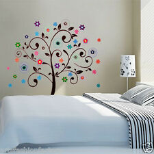 Tree Growth Decals Decor Art Home Flower Wall Sticker Art Kid Nursery Room Decor