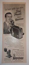 1953 Keystone Camera Company Advertisement Boston, Massachusetts