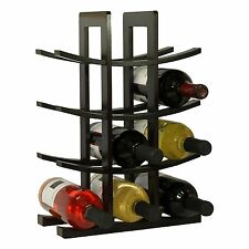 Wooden Wine Rack 12 Bottle Bar Kitchen Storage Bamboo Wine Rack Decor Wood Home