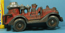 "1930's HUBLEY OLD AUTHENTIC FIRE PUMPER 4 1/2"" LONG ORIGINAL & ON SALE * T128"