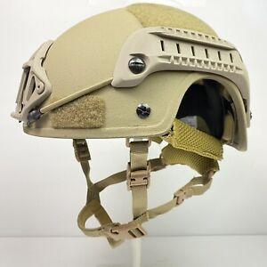 L/XL FDE High Cut NIJ IIIA SOHAH Ballistic CVC Helmet DEVGRU SEAL USGI Fast Ship