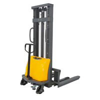"""SOVANS Electric Walkie Pallet Stacker Lift 3300lbs Capacity 118"""" Lifting Height"""