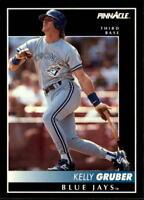 1992 PINNACLE BASEBALL CARD OF KELLY GRUBER OF THE BLUE JAYS- CARD  #134