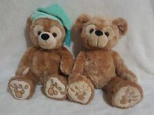 "2 Pre Duffy Hidden Mickey Bear DisneyLand Walt Disney World 13""Plush Tan Beige"
