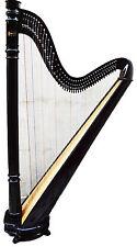 HB Beautiful 42 Strings Pillar Design Lever Harp Antique Christmas Gift