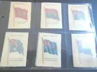 1934 Wix Kensitas  BRITISH EMPIRE FLAGS printed on silk Tobacco Set 50 cards