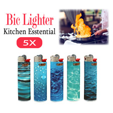 5 Pcs BIC Lighters Tobacco Cigarette Made in Assorted Colours