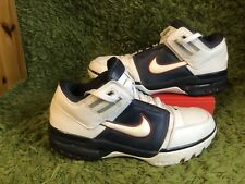 NIKE AIR ZOOM: rare 2004: GENERATION LEBRON JAMES 308573-113 Blanc/Bleu: UK 8