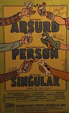 ABSURD PERSON SINGULAR Cast Signed Broadway Poster Windowcard