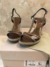 Burberry Housecheck Espadrilles Wegdge Shoes Size 37-1:2 With Studs