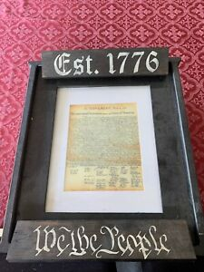 Declaration of Independence in wall concealed safe