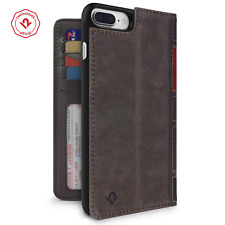 Twelve South BookBook iPhone 6/6s/7/8 Plus leather wallet case/stand/shell Brown