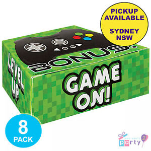 LEVEL UP GAMING PARTY SUPPLIES 8 LOOT LOLLY BOXES VIDEO BIRTHDAY FAVOURS