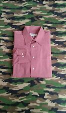 YSL Yves Saint Laurent Men's Large Long Sleeve Button Down Red 16 1/2 32-33