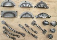 CAST IRON CHEST DRAWER WARDROBE KITCHEN CUPBOARD CABINET DOOR HANDLES & KNOBS