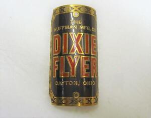 ~ Vintage NOS Huffman MFG CO Dixie Flyer Brass Head Badge - Dayton, Ohio USA ~