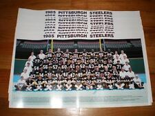 Lot of 10 Vintage 1985 Pittsburgh Steelers Football 12x21.5 Team Photos Posters