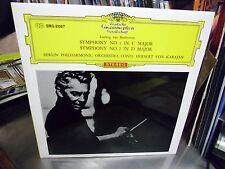 Herbert Von Karajan Symphony Vol. 1 & 2 Japan Import LP DGG EX [Red Tulip]