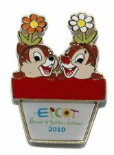 Disney Pin 76562 WDW Epcot Flower and Garden 2010 Chip & Dale cast exclusive LE