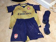 Puma Arsenal Away Full Kit Boys Age 12 Season 2015 /2016 RAMSEY #16 (A2817)