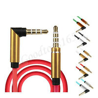 3.5mm New Jack Elbow Male to Male Stereo Headphone Car Aux Audio Extension Cable