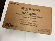 AmazonFresh 80 Ct. K-Cups, Hazelnut Flavored Medium Roast Coffee Keurig 10/2021