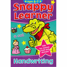 SNAPPY LEARNER HANDWRITING EDUCATIONAL SCHOOL BOOK & REWARD CHART FOR AGE 5-7