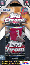2015 Topps Chrome Football EXCLUSIVE Factory Sealed Hanger Box-3 Pack+5 PARALLEL
