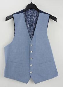 New Lauren Ralph Lauren Hitchcock Mens Sizes L / XL Light Blue Cotton Dress Vest