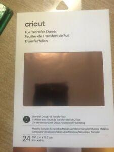 "Cricut Foil Transfer Sheets METALLIC  24 Sheets 4"" x 6"" - New in pack"
