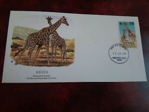 FIRST DAY COVER   1989 - KENYA -  GIRAFFE